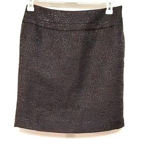 Loft textured size 4 black skirt